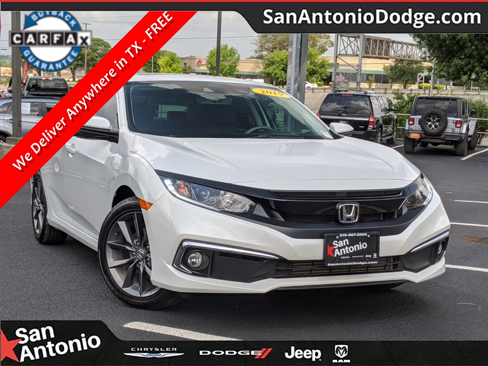 Pre-Owned 2019 Honda Civic EX-L