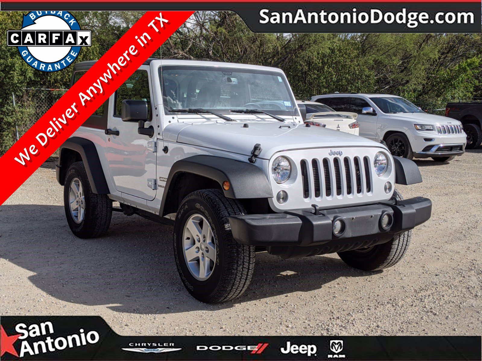 pre owned 2017 jeep wrangler sport 2d sport utility in san antonio a200043 san antonio chrysler dodge jeep ram san antonio dodge chrysler jeep ram